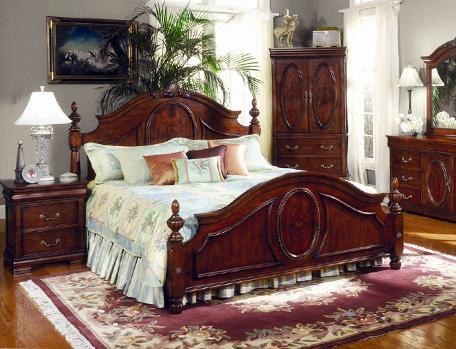 The Regency Collection3486_Elegant Poster Bedroom Set(침대+화장대+거울+협탁 ...