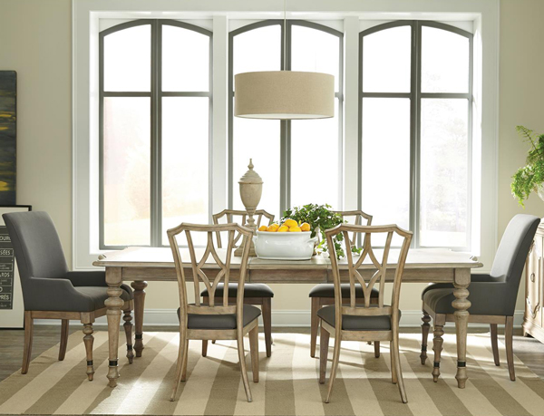 21550 - Corinne Collection / Rectangular Dining Set최대 2400mm 확장형 식탁 ...