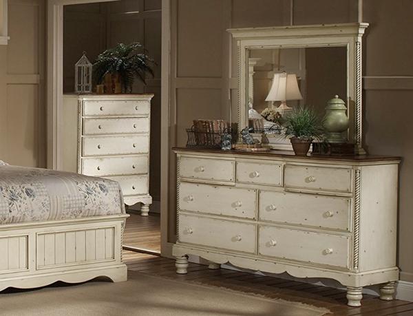 1172-717 Wilshire Collection Dresser & Mirror화장대( 와이드체스트 + 거울 ...