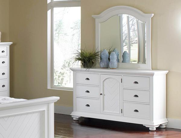 BP700MRW Brook Collection Dresser & Mirror화장대( 와이드체스트 + 거울 )벨 ...