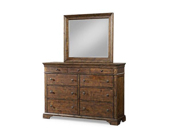920-650 'Jasper' Collection / Dresser & Mirror화장대( 와이드체스트 + 거울 ...
